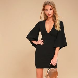 Lulu's Glimpse of Glamour Black Bodycon Dress